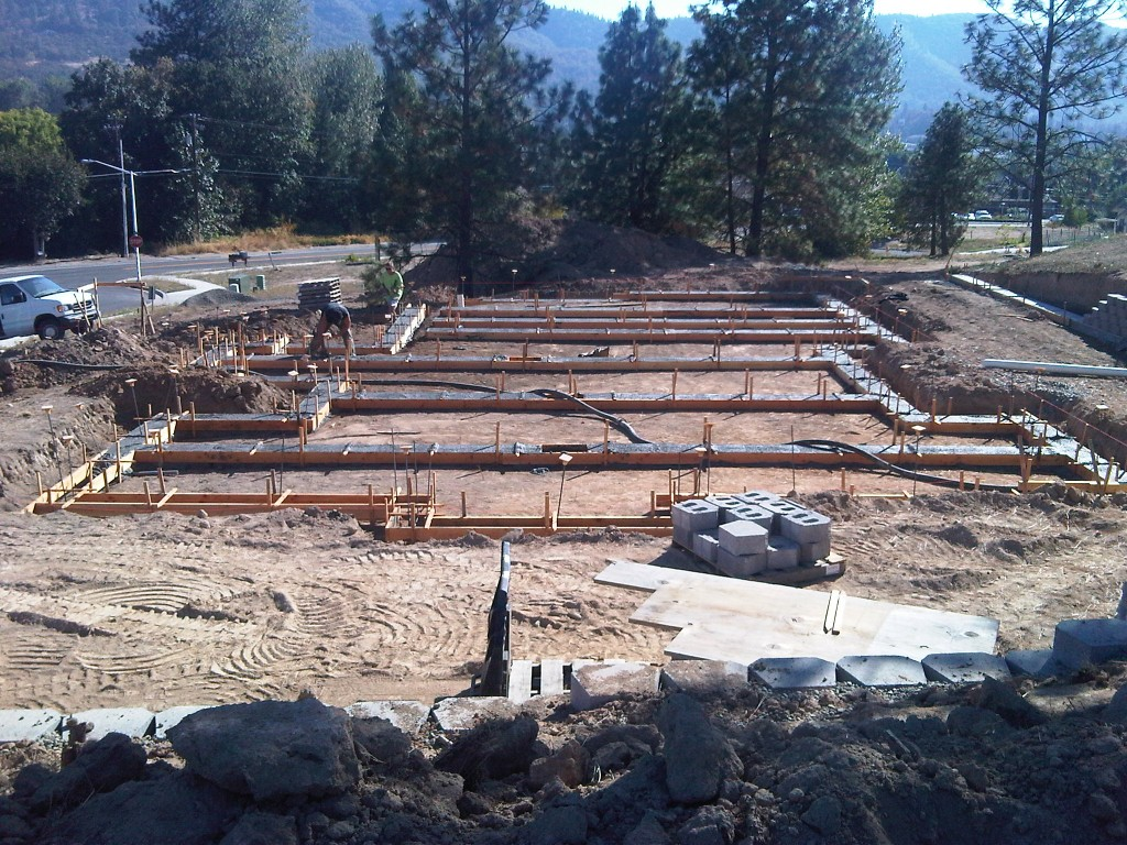 footings for lot 21