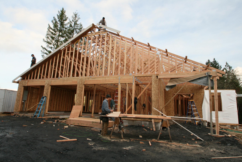 New custom home being built in paradise vista on lot 16 valerian homes llc - Houses built inhours ...