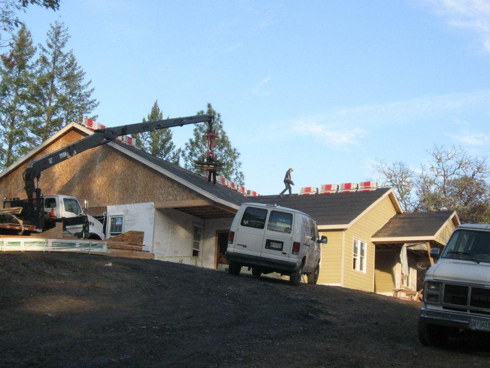 Exterior siding installed at Lot 16 Paradise Vista New Custom Home