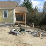 Paradise Vista Lot 16 Back patio-deck being built