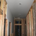 ceilings drywalled 1st at Paradise Vista lot 16