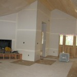 Great Room ceiling done & tape applied to drywall at Paradise Vista