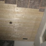 tongue & groove ceiling installed in Great Room at Paradise Vista