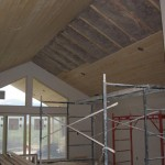 Knotty Pine tongue & groove ceiling continued from patio