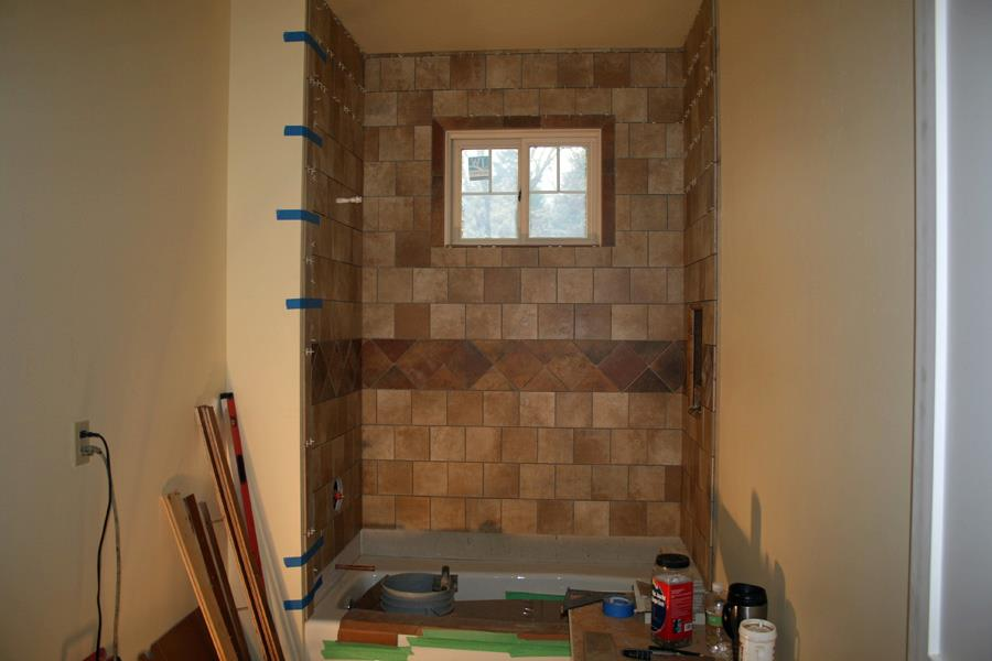103 Columbia-tile set in guest bath/shower