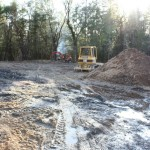 Clearing Lot 4 for home in Paradise Vista, Grants Pass