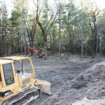 clearing Lot 4 for custom home in Paradise Vista, Grants Pass