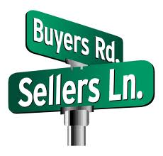 street signs that say -Buyers Rd. -Sellers Ln.