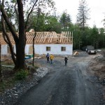 Lot 4-Paradise Vista roof trusses complete