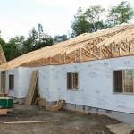 Lot 4-Paradise Vista view of trusses & side of new custom home