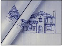 image of a sample blueprint drawing of a home
