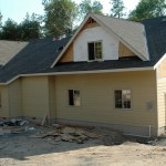 Paradise Vista lot 4- Hardie Siding-fiber concrete pre-primed exterior siding installed